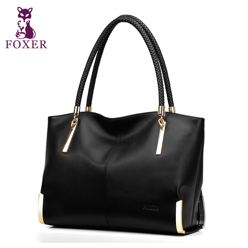 FOXER women luxury handbag new High quality leather handbags women shoulder bags fashion tote bag ladies hand bag famous brands 2017 new women leather handbags fashion shell bags letter hand bag ladies tote messenger shoulder bags bolsa h30