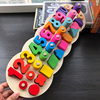 Children Wooden Toys Montessori Materials Learn To Count Numbers Matching Digital Shape Match Early Education Teaching
