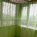 New 3*2.7m green tulle window curtains for living room luxury chinese modern curtains for bedroom kids room curtains 3d curtains