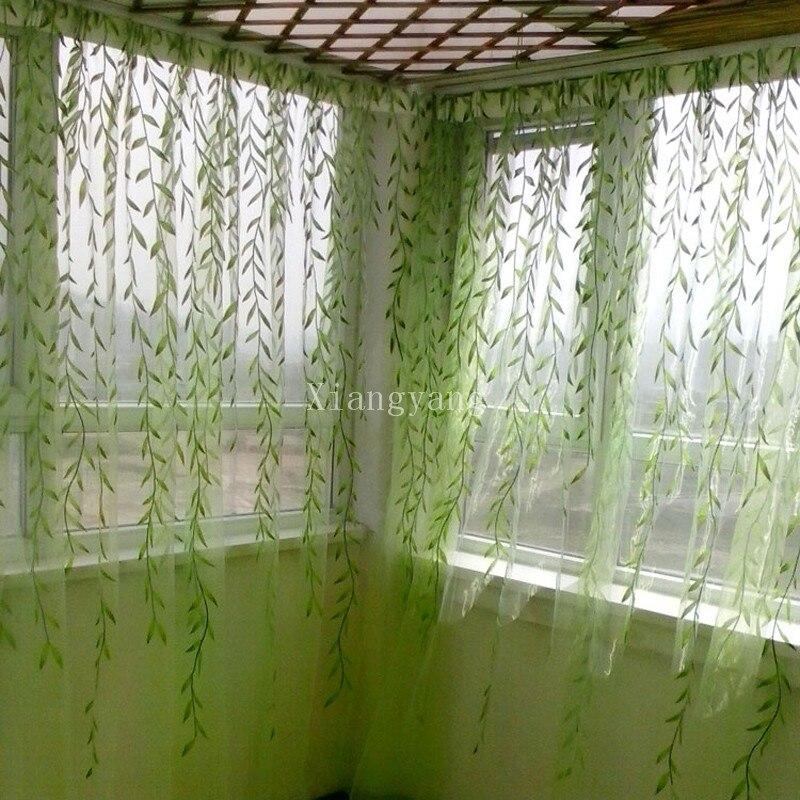 nuevo m verde cortinas de tul para la sala de estar moderna voile