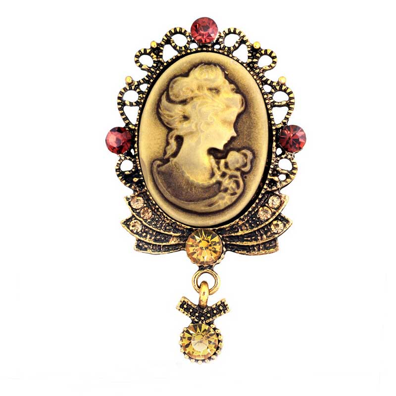 Elegant Beautiful Lady Cameo Vintage Stylish Brooch Special Gift For Friends Hot Selling Pendent Brooch Pin High Qulaity Corsage