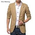 DEE MOONLY 2017 Novos Homens Blazer de Forma Magro blazer casual para dos homens Da Marca Homens Designer de terno homens casaco outerwear 3 cores M ~ XXXXL
