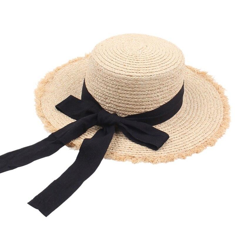 Summer Handmade Weave Raffia Outdoors Sun Hats For Women Summer Sunshade Straw Hat Beach Hat Foldable Hat Fashion(China)
