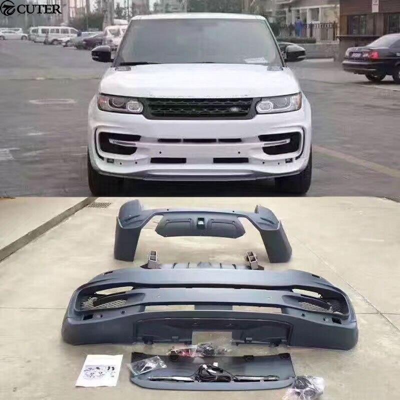 ST Style Car Body Kit PP Unpainted Front Bumper Rear