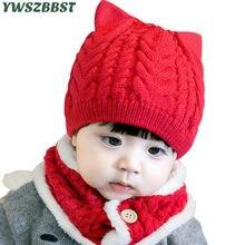 Otoño Invierno moda sombreros del bebé con el oído del perro sombrero de ganchillo  para las niñas niños hizo punto los niños cál. 695cebce99c