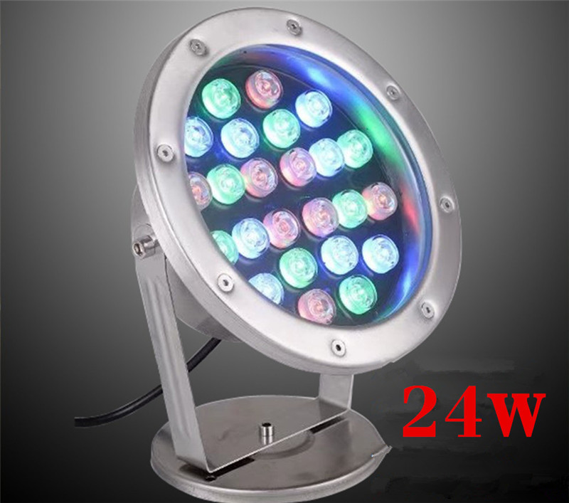 LED Underwater Lights 18W RGB Color Changing DMX512 IP68 Waterproof Joint for Party Swimming Pool Fountain Water Rockery Grass