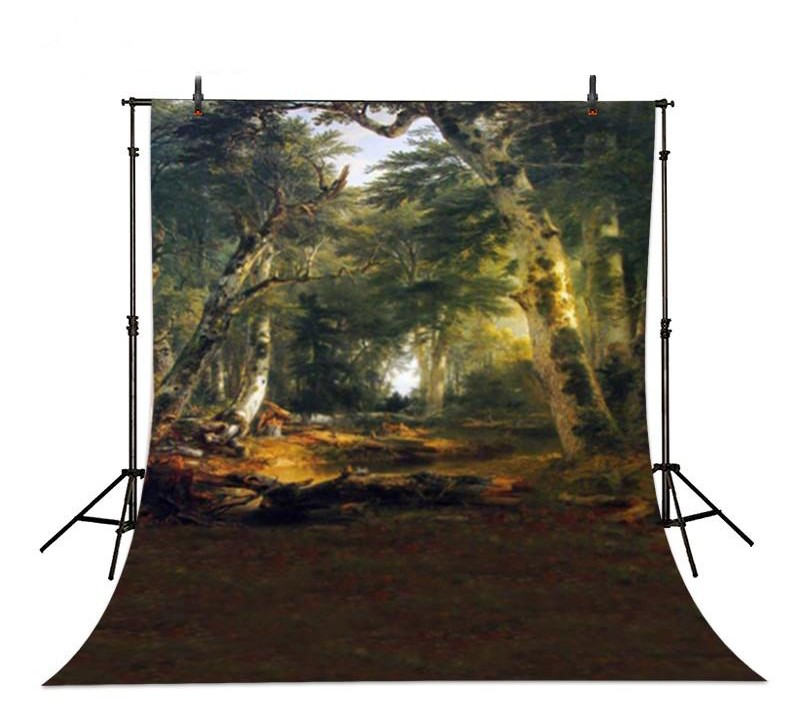 Enchanted Forest Trees Jungle backdrop Vinyl cloth High quality Computer printed party photo studio background flame trees of thika