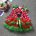New Fashion Baby Girl Roupas de Natal Fantasia Bola Vestidos Das Crianças Das Crianças Trajes de Festa de Carnaval Do Feliz Natal Para A Criança 1-5