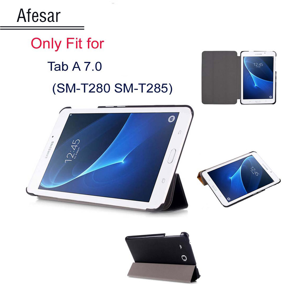 Tab A6 7 inch cover case for Galaxy Tab A 7.0 SM-T280 SM-T285- ultra slim PU Leather Flip smart Cover Case for sm-T280 sm-T285 аксессуар чехол it baggage for samsung galaxy tab a 7 sm t285 sm t280 иск кожа red itssgta70 3