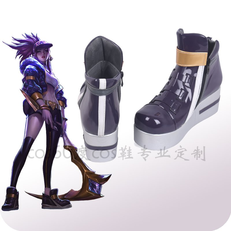 Game LOL KDA Akali Cosplay Women Shoes Game LOL K/DA Akali Cos
