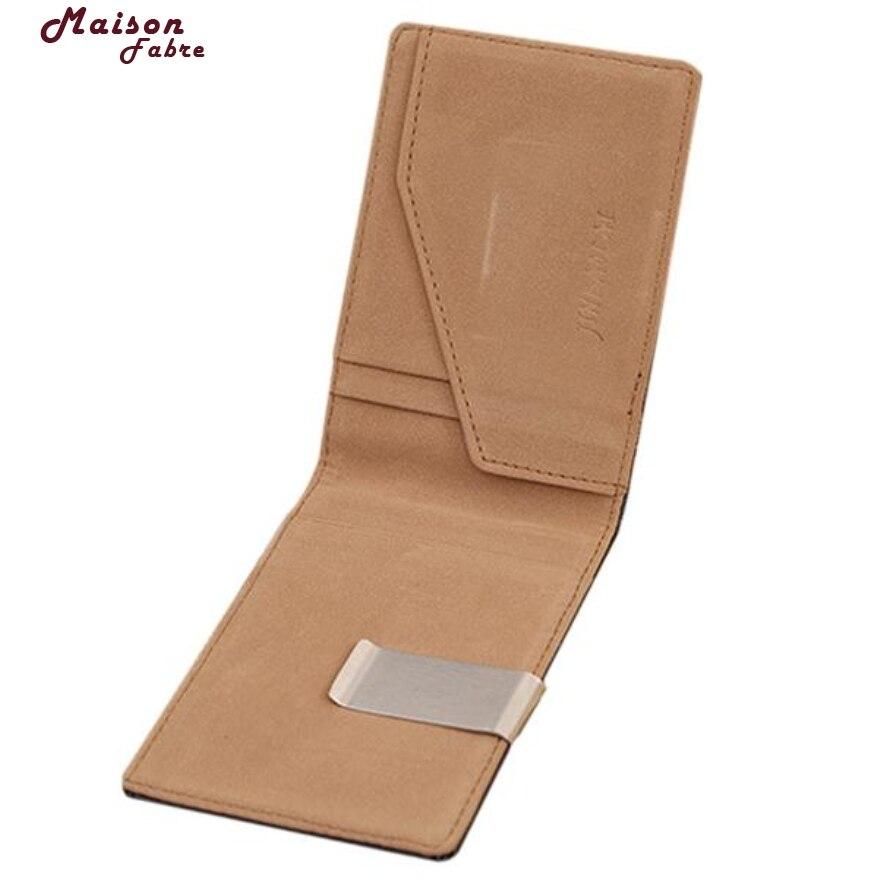 New Fashion Leather Purses Men Magic Thin Clutch Clip Wallet Double Silm Hasp Wallets Credit Card Holder Coin Purse Maison Fabre икона янтарная почаевская богородица