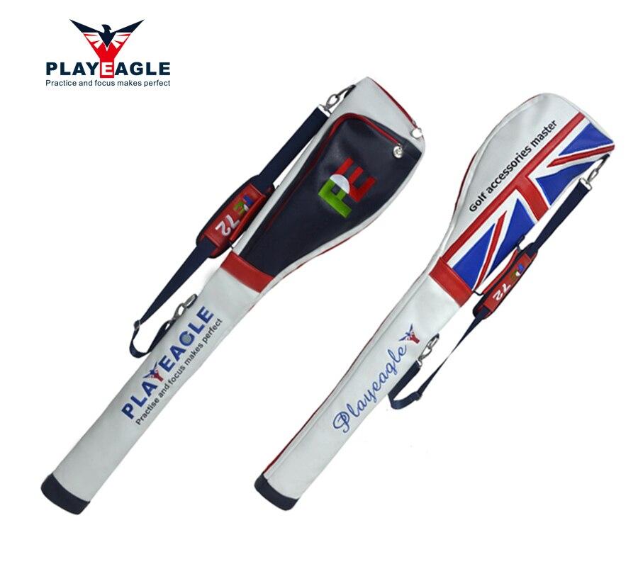 PLAYEAGLE Protatble Folding Leather Durable Golf Club Bags Lightweight 3-5 Golf Standard Club Sunday Bag Men's Golf Gun Bag 1pc цена и фото