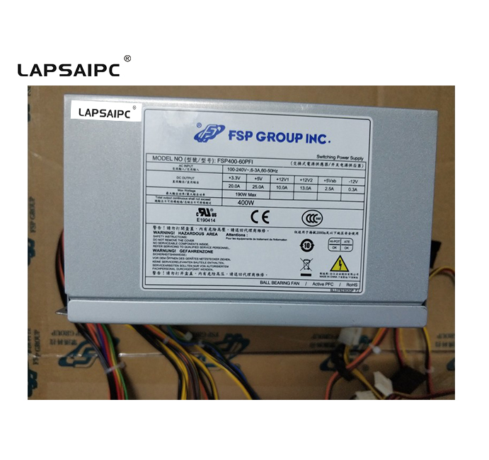Lapsaipc FSP400-60PFI 400 W alimentation PSU testé fonctionnant