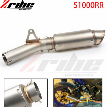 For BMW S1000RR 2014 2015 2016 14 Motorcycle Slip on Full Exhaust System Pipe Mid Middle Pipe Connect Link Pipe Whole Set Pipe