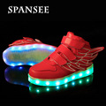 Wholesale Children LED Shoes Glowing Luminous Shoes for Boys Girls Kids Light Up Sneakers LED Slippers