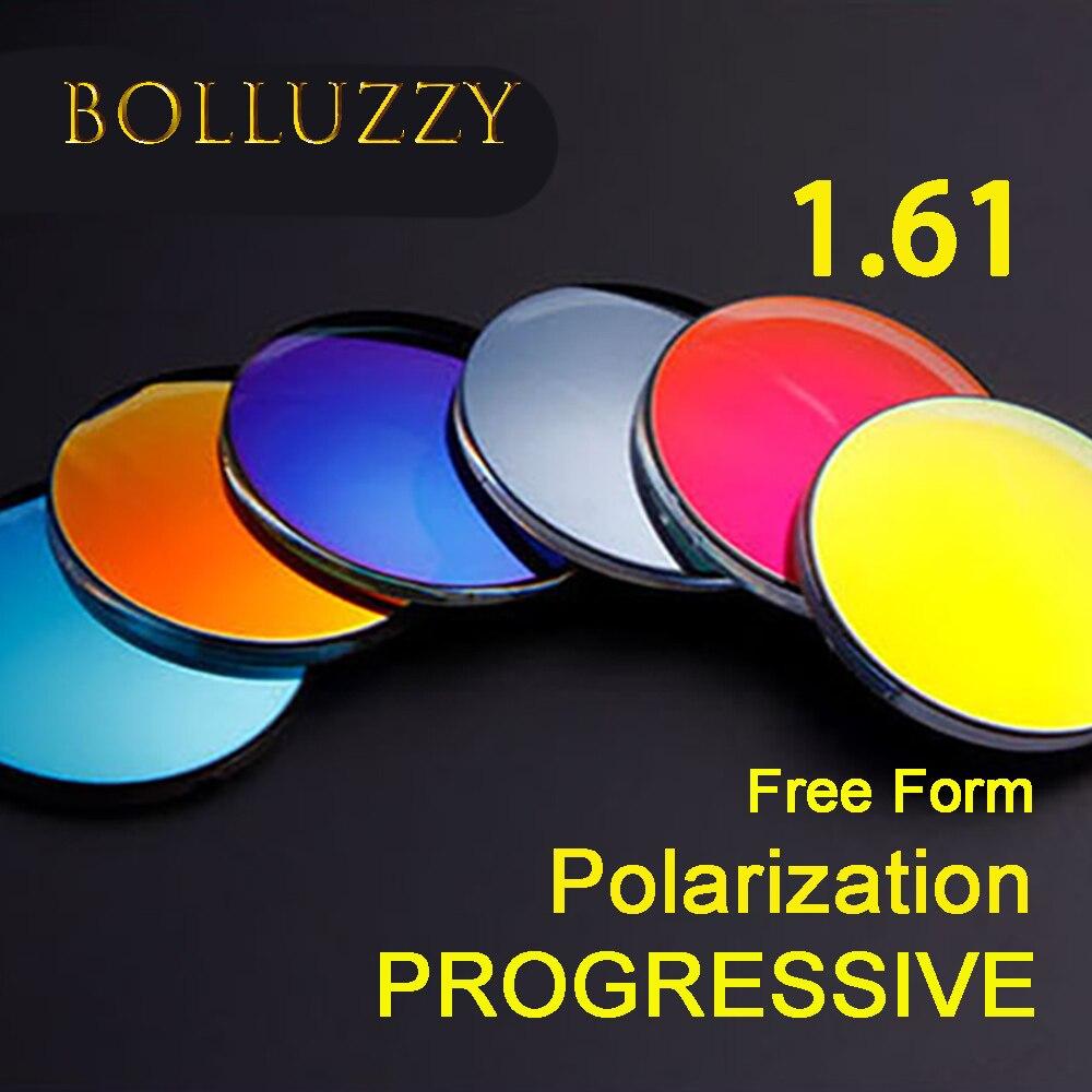1.61 indice Ultra léger lunettes de soleil polarisées lentilles Diopter progressif CR39 porte lunettes lentilles sport pêche miroir