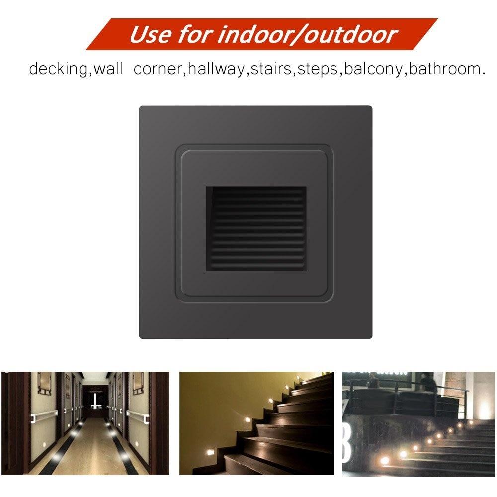 Led Underground Lamps Outdoor Led Step Light Waterproof Stair Light Wall Embedded Underground Lamp Lighting Deck Footlights 85-265v Ip68 Dc12v