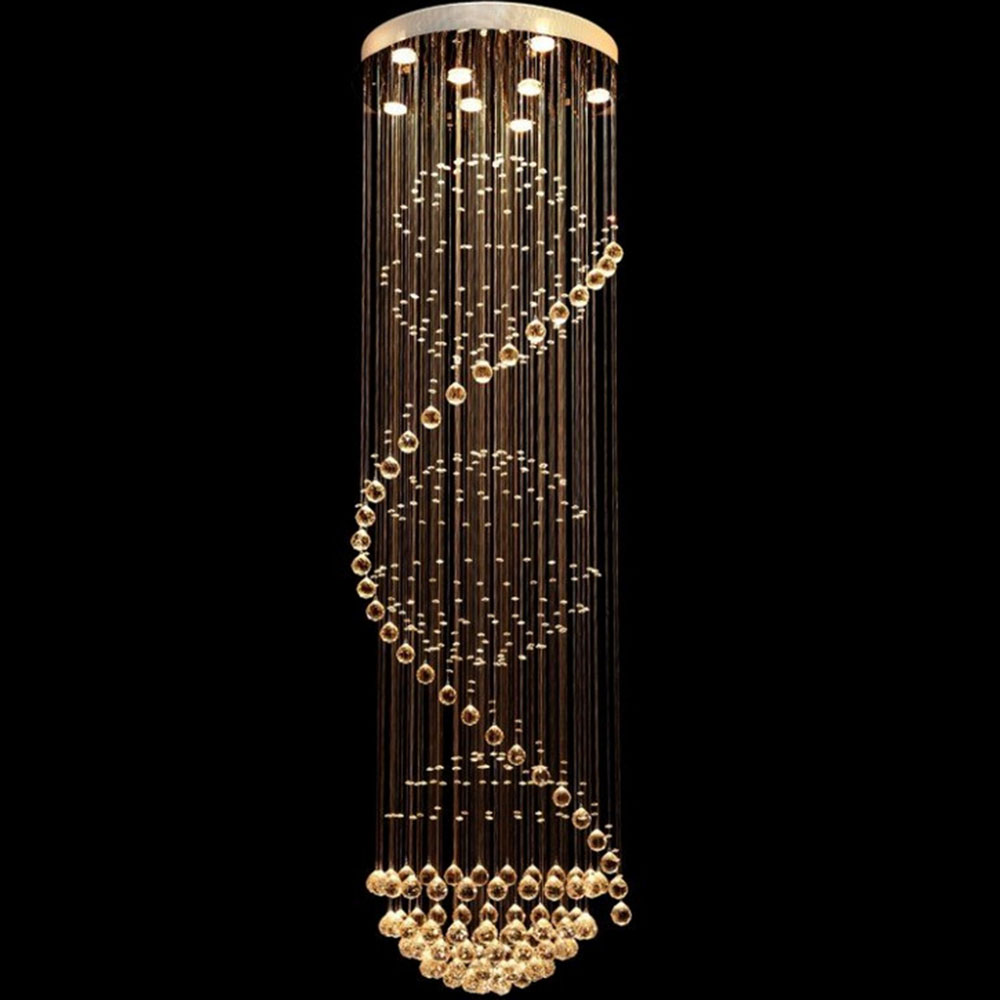 Modern crystal ceiling lamp crystal lustres de sala light fixture modern crystal ceiling lamp crystal lustres de sala light fixture long ceiling lighting with 7 gu10 bulbs mc0546 d500mm h1800mm in ceiling lights from aloadofball Choice Image