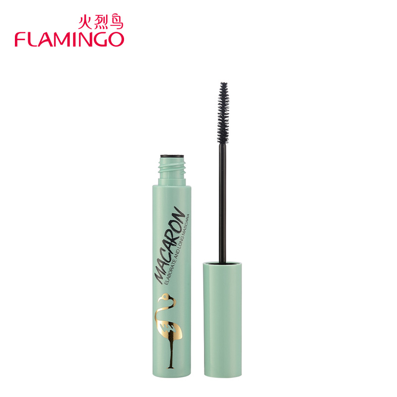 Professional Eye Makeup Brand Flamingo Bottom Eyelash Mascara Collection Længde 1,5 mm rødme hoved Mascara 61212