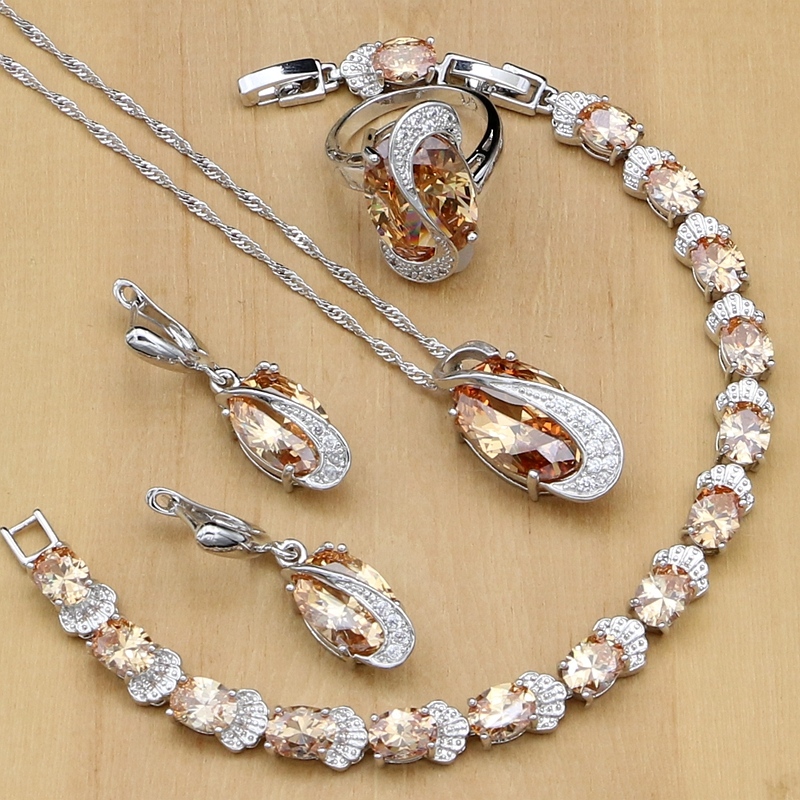 Zakol Marke Mode Design Schmuck Set Funken Cz Stein Ohrringe Armband & Armreif Ring Für Frauen Engagement Fssp3011 Schmuck & Zubehör Hochzeits- & Verlobungs-schmuck