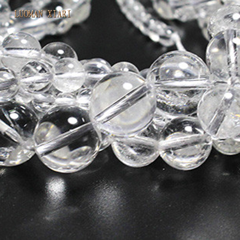 """Wholesale AAA+ Natural Clear Rock Crystal Quartz Stone Beads For Jewelry Making DIY Bracelet Necklace 4/6/8/10/12 mm15.5"""""""