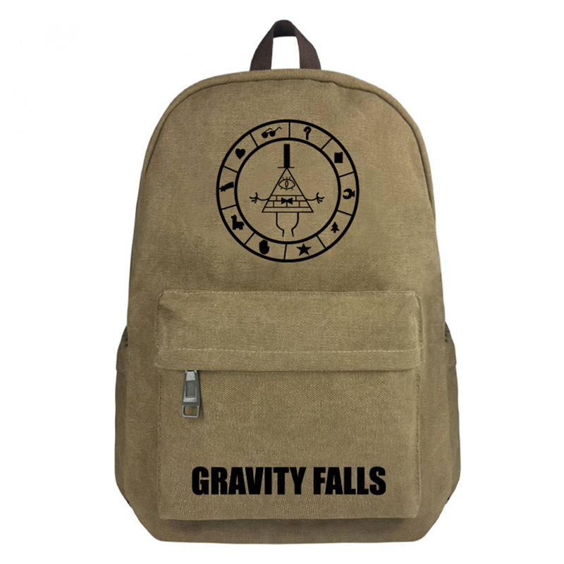 FVIP 16 inch Canvas Backpack Gravity Falls School Bag for Students Boys and Girls Book Bags cartoon gravity falls backpack for teenage girls children school bags dipper mabel backpack kids gravity falls bag best gift