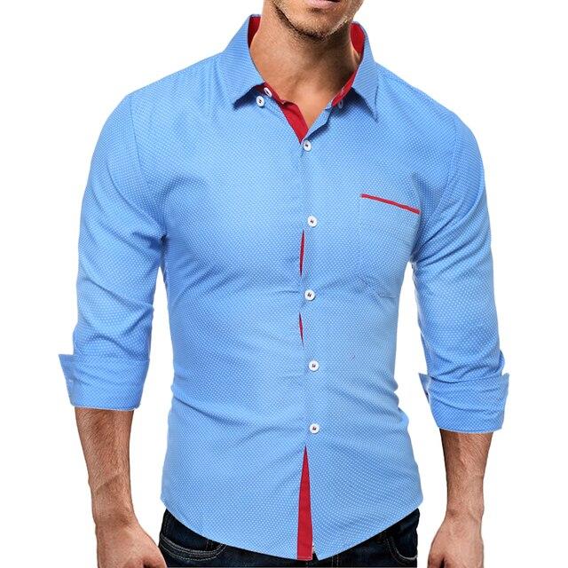 2017 New Autumn Fashion Brand Men Clothes Slim Fit Men Long Sleeve Shirt Men Plaid Cotton Casual Men Shirt Size M-3XL