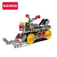 Frete grátis modelo de construção kits cabeças de metal do veículo snowmobile iluminai educação assemblage diy presente do menino do miúdo brinquedos modelo 3d