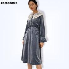 Новинка Весна 2019 платье в Корейском стиле принцессы бархатные