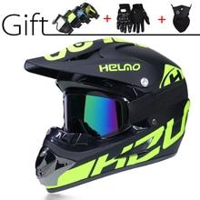 Супер-Крутой мотоциклетный внедорожный шлем ATV Dirt Bike шлем MTB Горный шлем полный шлем 3 подарка и много дизайнерских емкостей