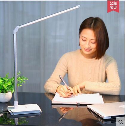10 Вт 110-240 В 60 Светодиодный металлический складной работы настольная лампа детская защита глаз исследования настольная лампа для внутреннего освещения