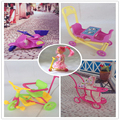 Girl birthday gift 5 items stroller Double Pram Baby bike motorcycle scooter accessories for barbie Kelly doll