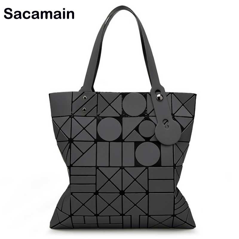 Geometric Women's Handbags Tote Bag Shoulder Japanese-style Folding Bags Bolsa Tao Bao Casual Tote Women Handbag