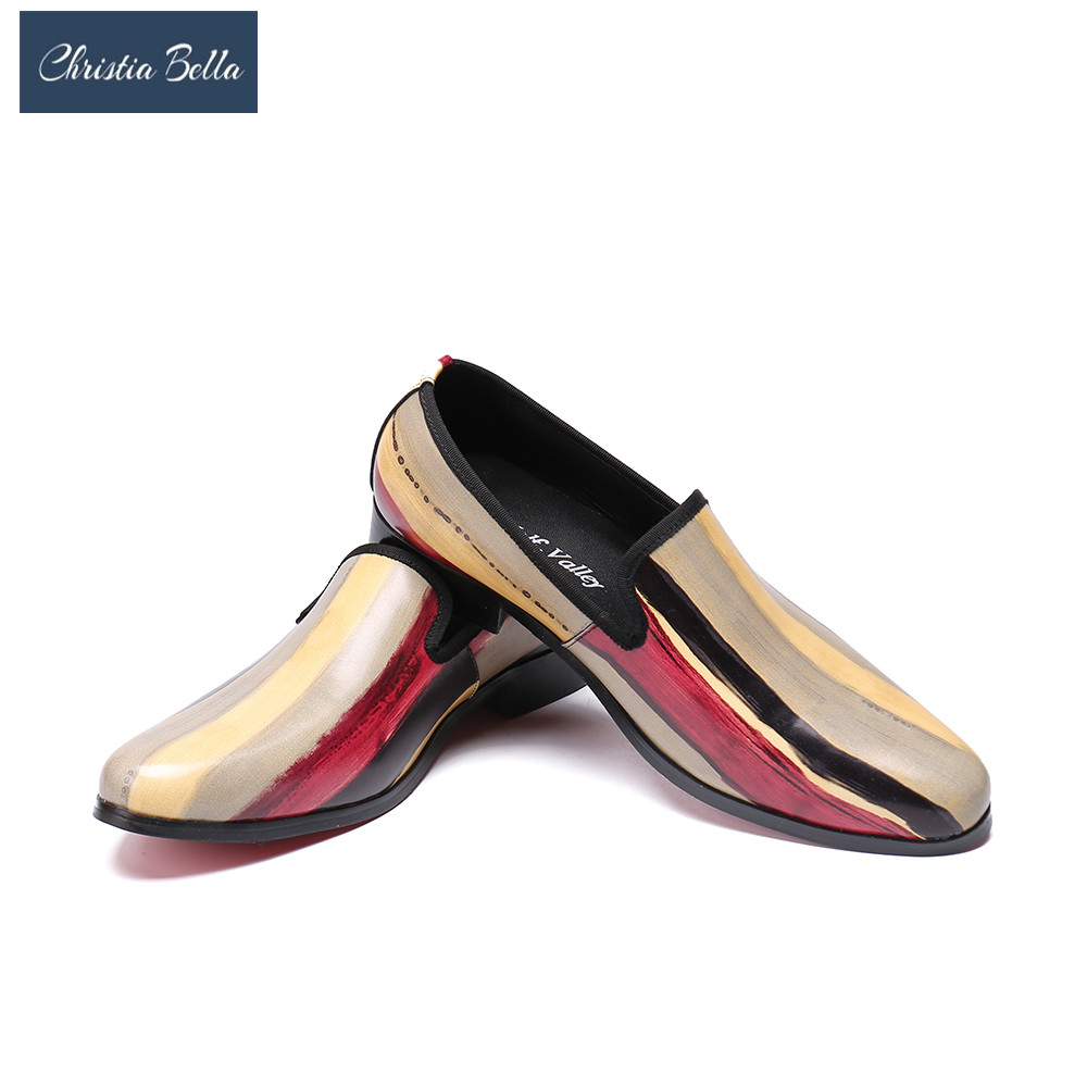 Christia Bella New Men Patent Leather Shoes Party and Wedding Men Dress Shoes Handmade Men Retro loafers Males Flats Drive ShoeChristia Bella New Men Patent Leather Shoes Party and Wedding Men Dress Shoes Handmade Men Retro loafers Males Flats Drive Shoe
