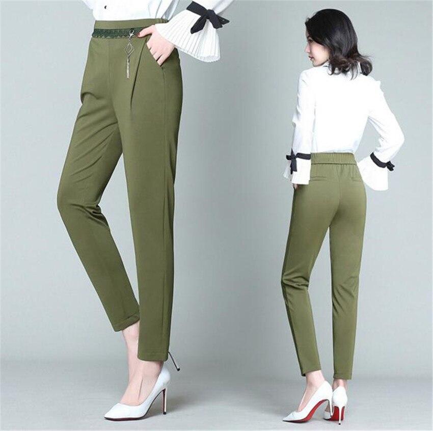 Mlcriyg новая весенняя тонкая талия случайные девять размер твердый жир-шаровары свободные штаны