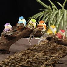 12 шт. искусственная имитация птицы мини-попугай реквизит птица ручной работы ультра легкий попугай для дома спальни Сказочный садовый декор