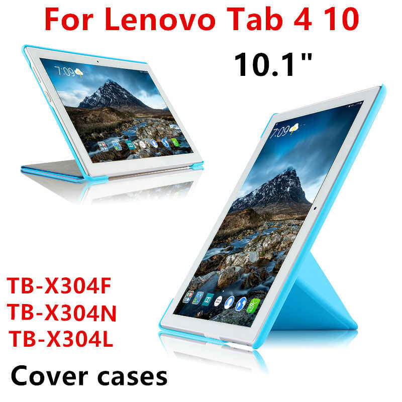 "For Lenovo Tab4 Tab 4 10 TB-X304N TB-X304L TB-X304F 10.1"" Tablet PC Cover Case Protective PU Leather TAB4 10 TB X304F/N/L Cases"