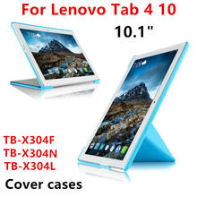 "For Lenovo Tab4 Tab 4 10 TB-X304N TB-X304L TB-X304F 10.1"" Tablet PC Cover Case Protective PU Leather TAB4 10 TB X304F/N/L Cases(China)"