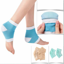 1 Pair Moisturising Spa Gel Heel Socks Cracked Foot Dry Hard Skin Care Protector Feet Care Socks Silicone Exfoliating Remove skin care for dry hard cracked skin moisturising spa gel silicone socks rejuvenation foot mask softex