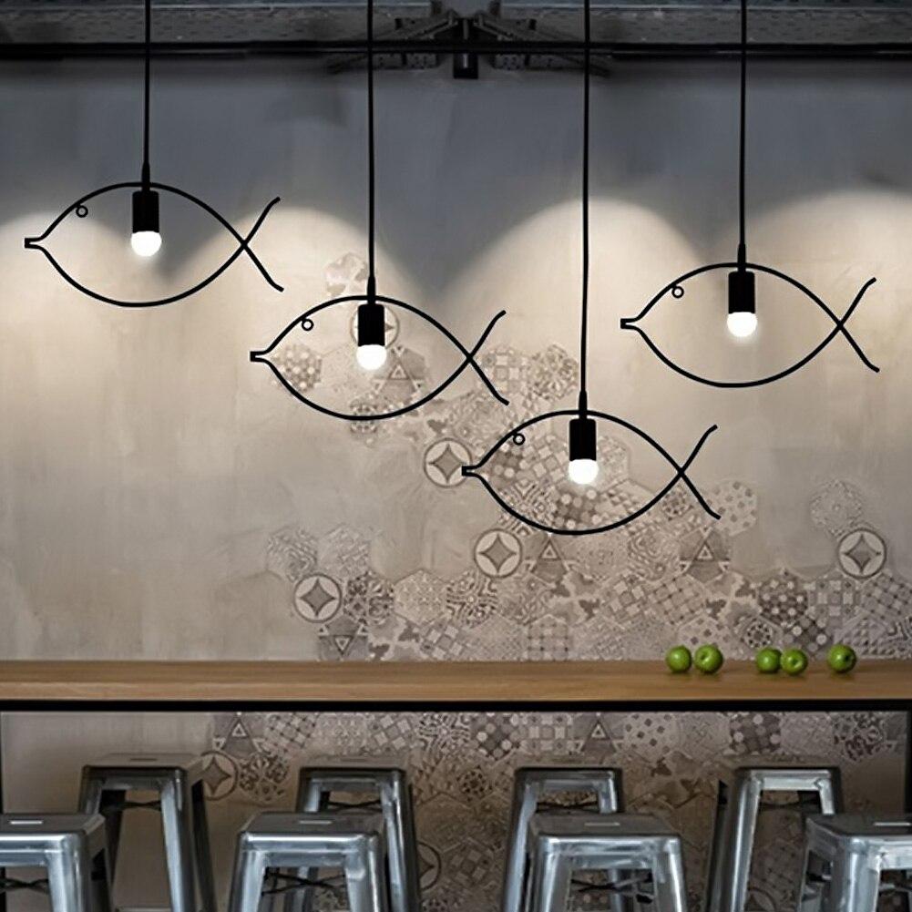 Simple Fish Frame Pendant Lamp Chandelier Light Fashion