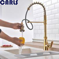 Carls Кухня холодной и горячей смешанные кран латунный Весна Рисуем водой канавки кран отверстие под одной смеситель для умывальника F3032