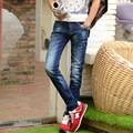 2016 мужские джинсы Молодежная мода, развивать нравственность ковбойские штаны