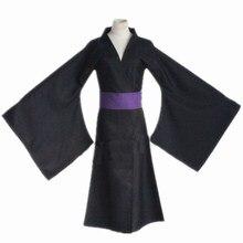 Noragami Iki Hiyori Noragami Yato siyah Kimono Yukata Cosplay kostüm
