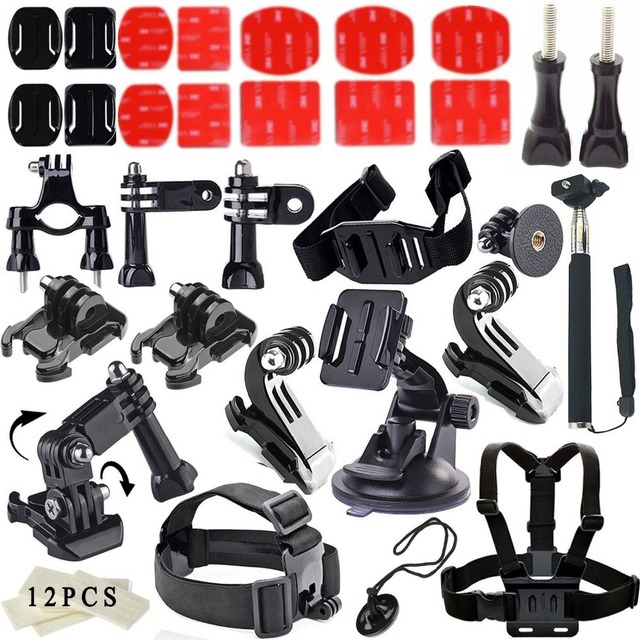 For Gopro Accessories Bundle Kit For Gopro Hero 4 Gopro 3 3 2 1 Bike Outdoor Sports Kit Any