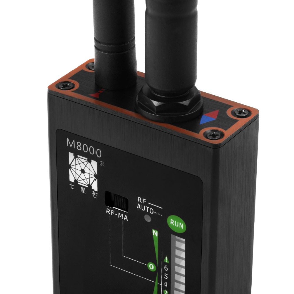 Détecteur de Signal professionnel RF détecteur Audio GSM détecteur de balayage GPS Anti-espion Bug détecteur d'aimant fort M8000