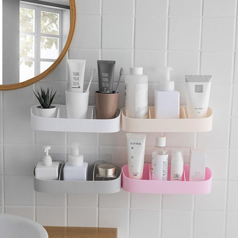 Bathroom Shelf Adhesive Storage Rack Corner Shower Shelf ...