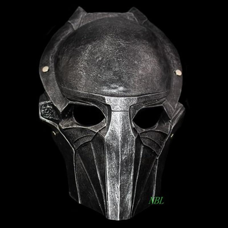 Alien VS Predator Warrior Masks Full Face Halloween Deluxe Movie Resin Mask Masquerade Party Costume Sliver Adult Size