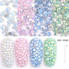 350PC Multi Size Glass Nail Rhinestones Mixed Colors Flat-back AB Crystal Strass 3D Charm Gems DIY Manicure Nail Art Decorations new style multi size glass nail rhinestones mixed colors flat back ab crystal strass 3d charm gems diy nail art decorations