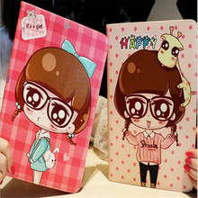 Cute character Variety of girls pattern tablet cover for ipad air 1 2 common brand quality leather case with package