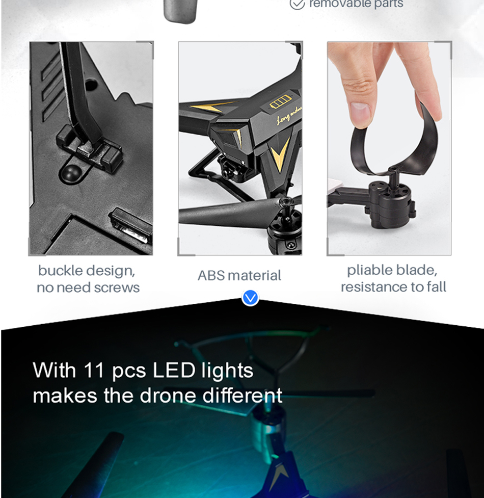 18 INKPOT KY601S Foldable RC Drone Quadcopter With 1080P HD Camera Drone Professional 1800mAH Battery Selfie Folding Dron 5